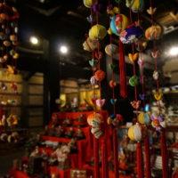 平塚市博物館に展示されたつるし雛