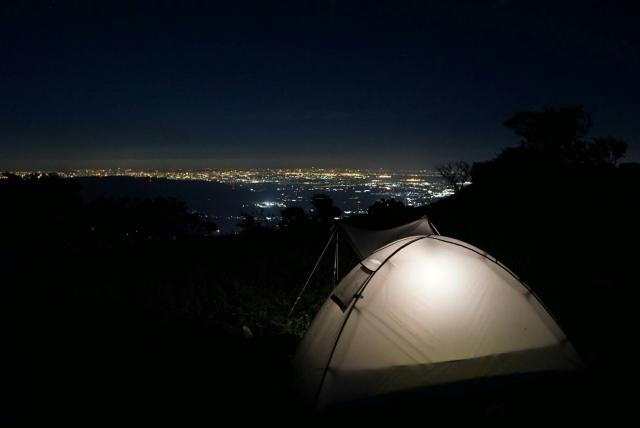 山でテント泊